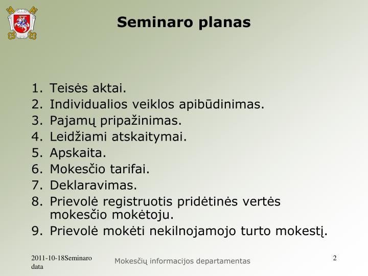Seminaro planas