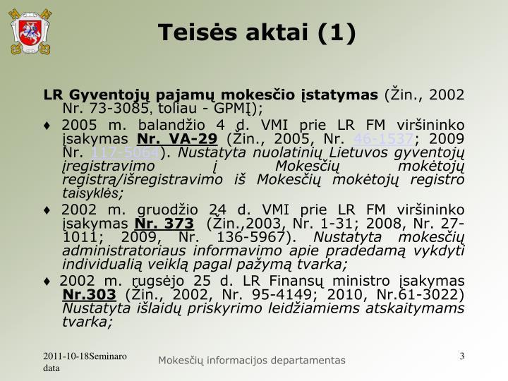 Teisės aktai (1)