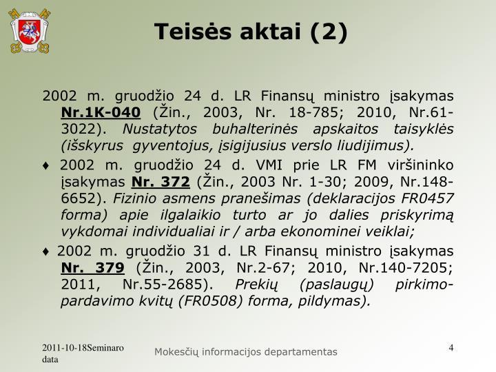 Teisės aktai (2)