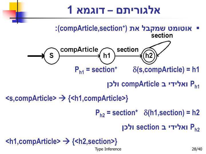 אלגוריתם – דוגמא 1
