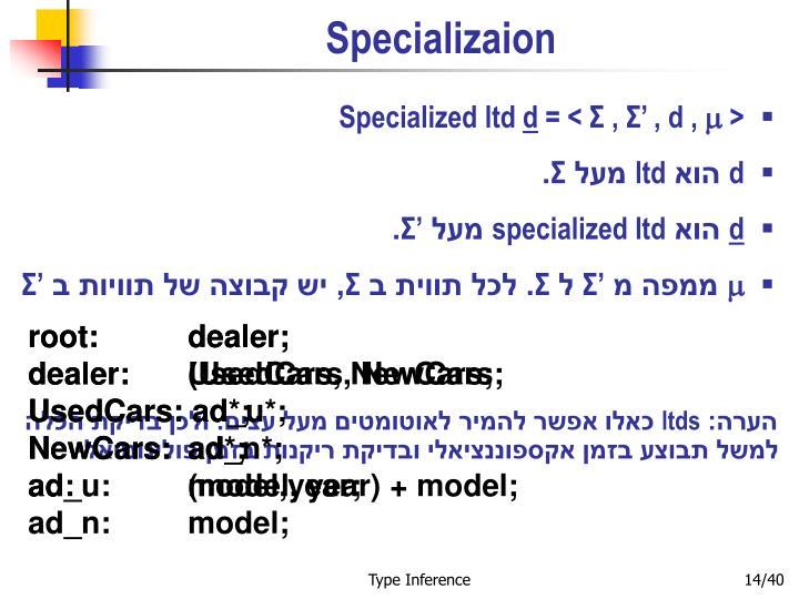 Specializaion