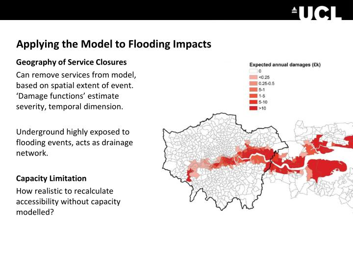 Applying the Model to Flooding Impacts