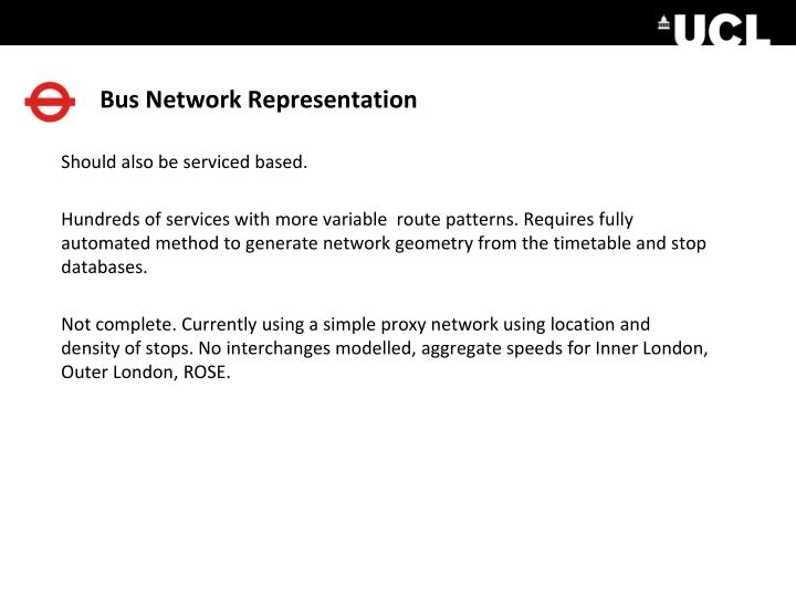 Bus Network Representation