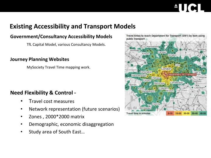 Existing Accessibility and Transport Models