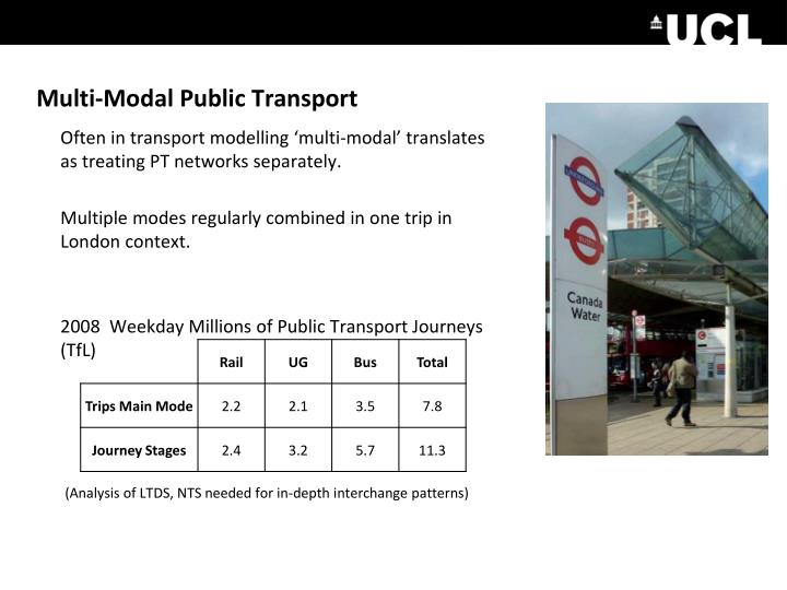 Multi-Modal Public Transport