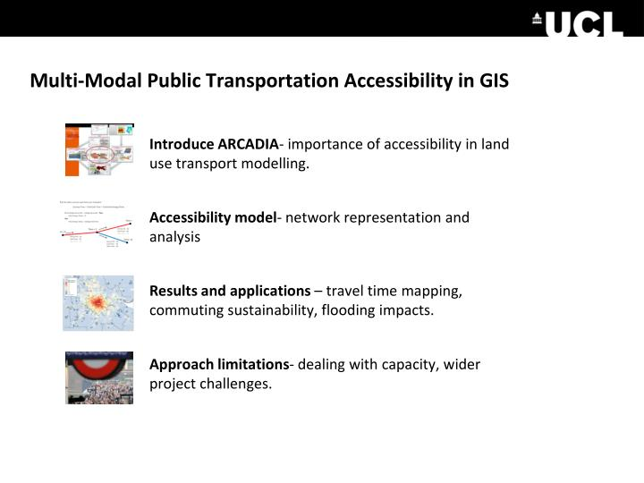 Multi-Modal Public Transportation Accessibility in GIS