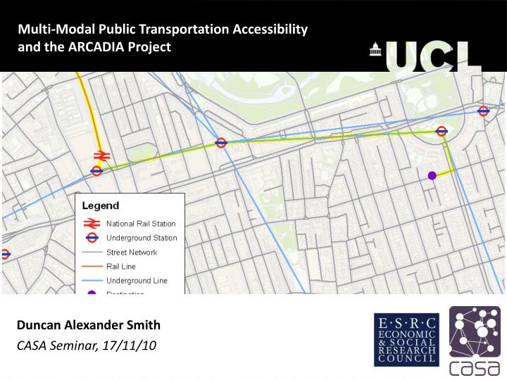 Multi-Modal Public Transportation Accessibility