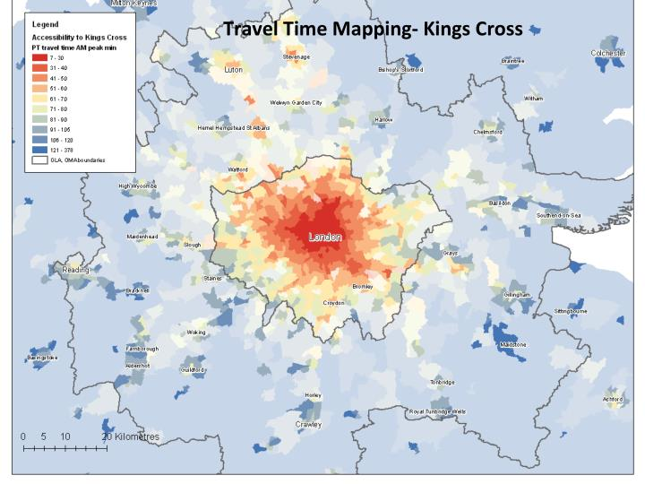 Travel Time Mapping- Kings Cross