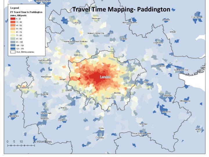 Travel Time Mapping- Paddington