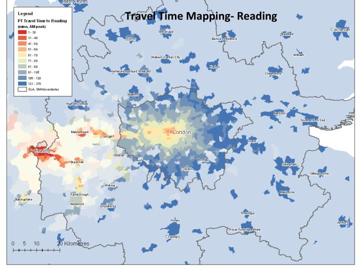 Travel Time Mapping- Reading