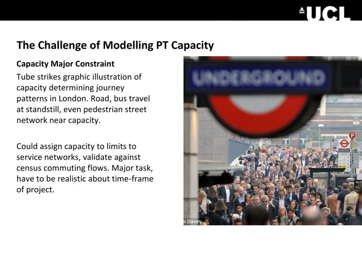 The Challenge of Modelling PT Capacity