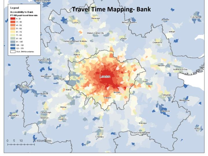 Travel Time Mapping- Bank