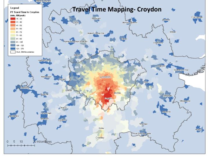 Travel Time Mapping- Croydon