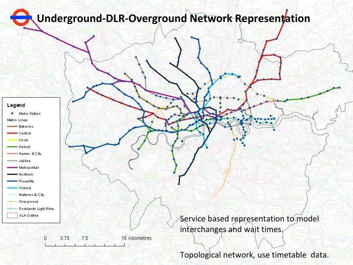 Underground-DLR-Overground Network Representation