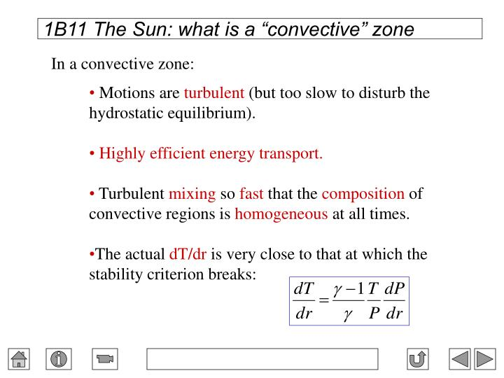 "1B11 The Sun: what is a ""convective"" zone"