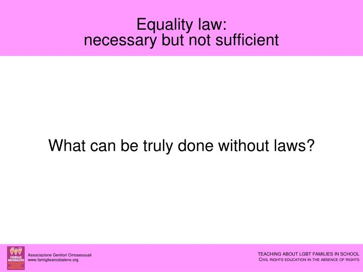 Equality law: