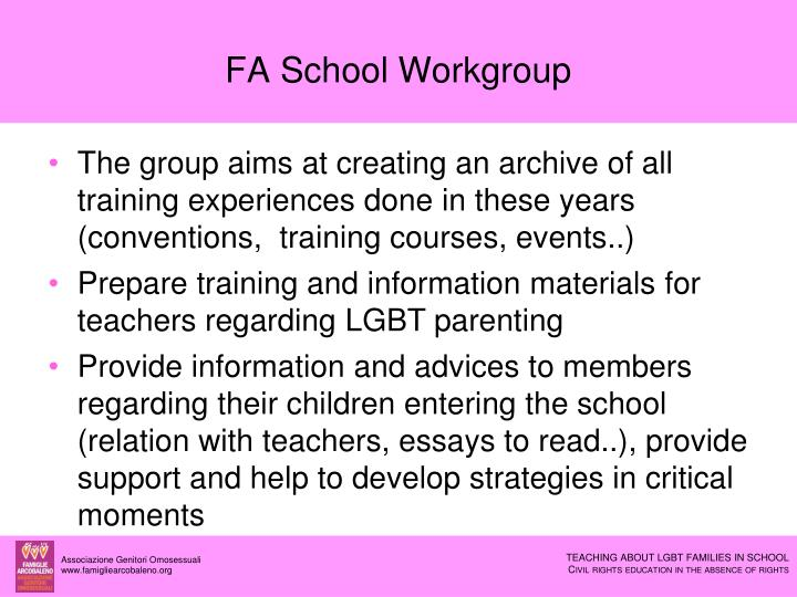 FA School Workgroup