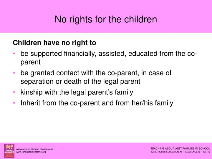 No rights for the children