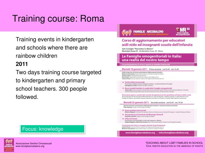 Training course: Roma
