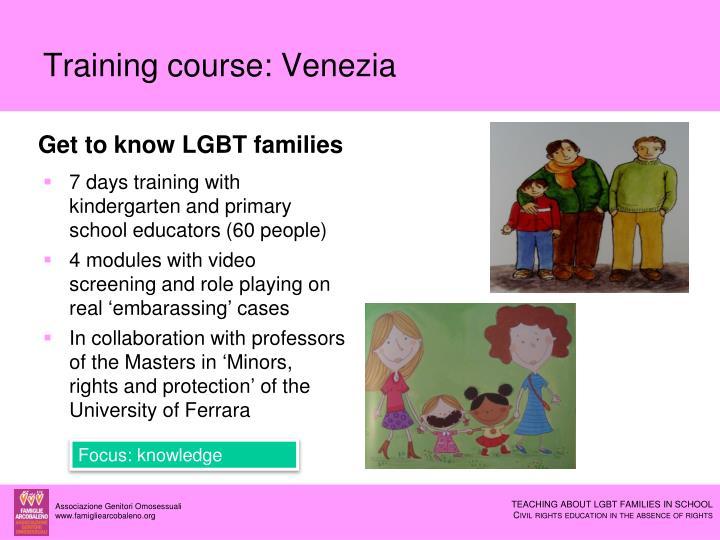 Training course: Venezia