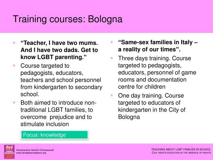 Training courses: Bologna
