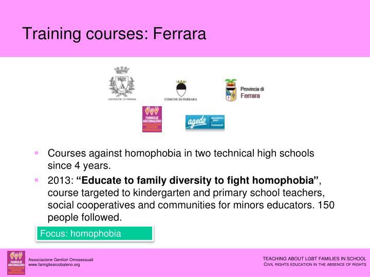 Training courses: Ferrara