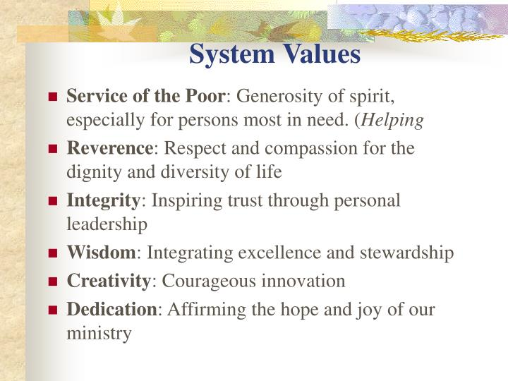 System Values