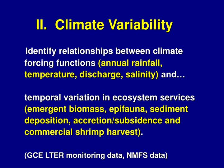 II.  Climate Variability