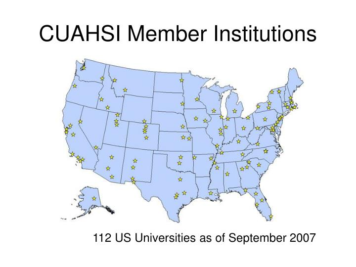 CUAHSI Member Institutions