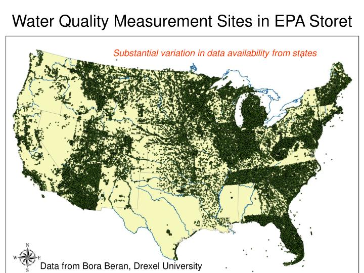 Water Quality Measurement Sites in EPA Storet