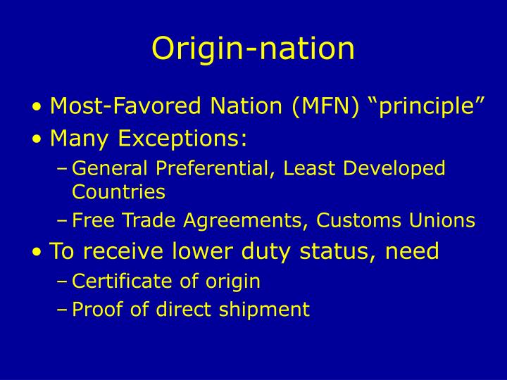 Origin-nation