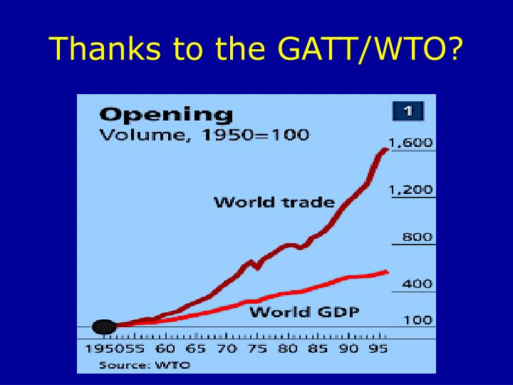 Thanks to the GATT/WTO?