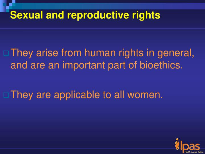Sexual and reproductive rights