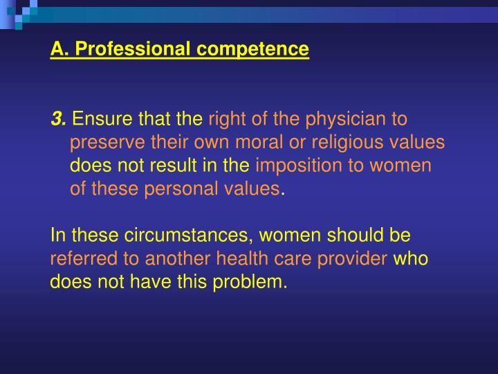 A. Professional competence