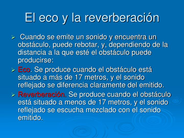 El eco y la reverberación