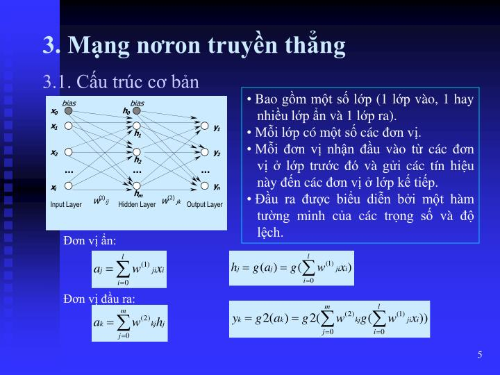 3. Mạng nơron truyền thẳng