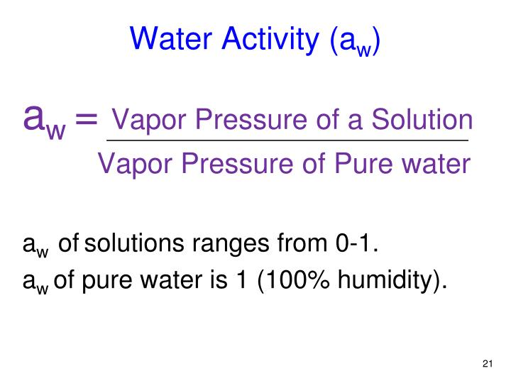 Water Activity (a