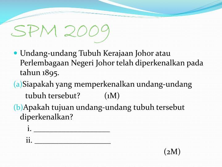 SPM 2009