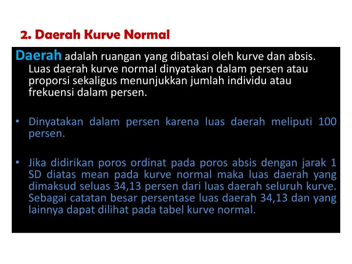 2. Daerah Kurve Normal