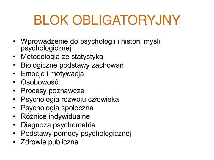 BLOK OBLIGATORYJNY