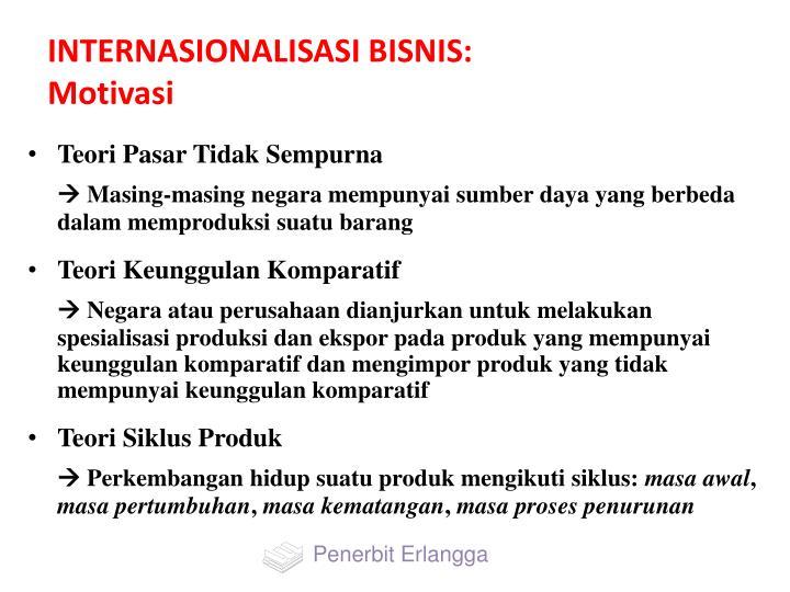 INTERNASIONALISASI BISNIS: