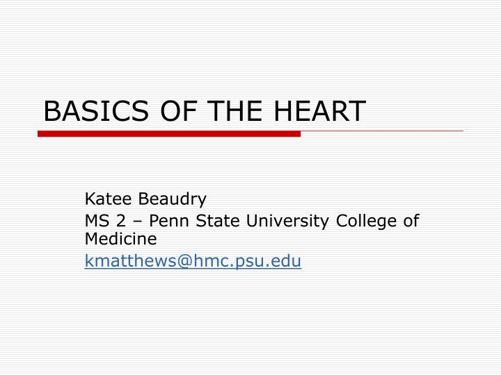 Basics of the heart