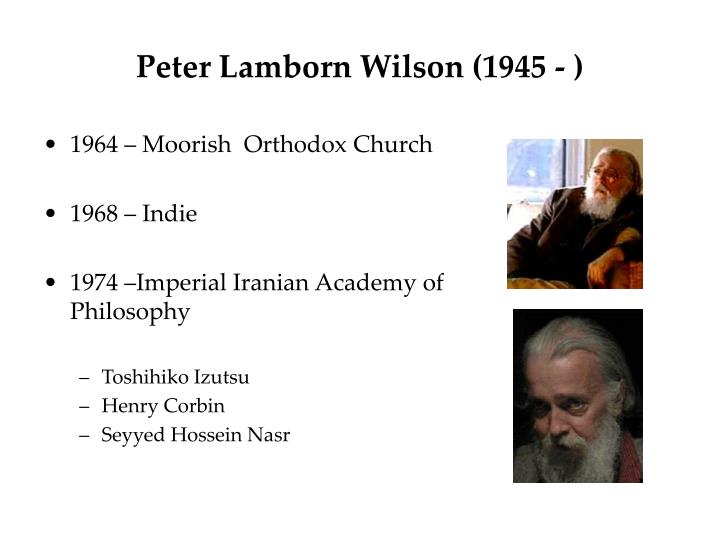 Peter Lamborn Wilson (1945 - )