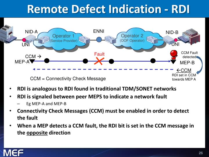 Remote Defect Indication - RDI