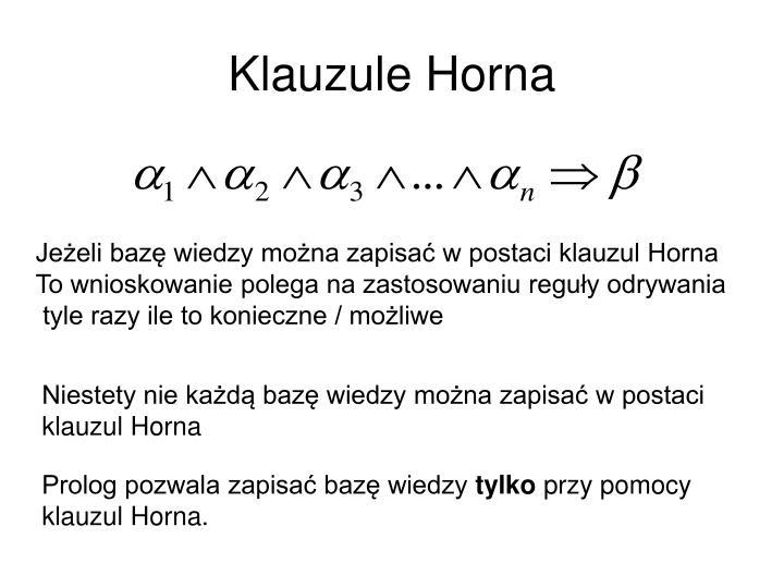 Klauzule Horna
