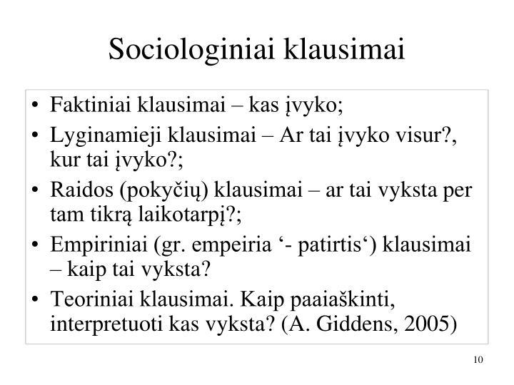 Sociologiniai klausimai