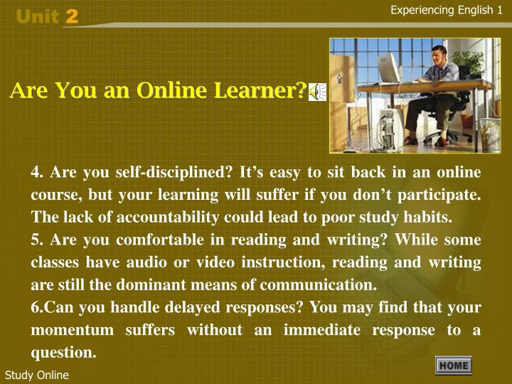 Are You an Online Learner?