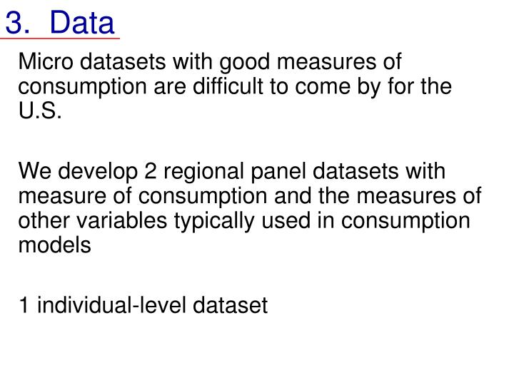 3.  Data