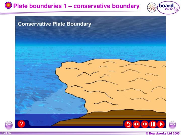 Plate boundaries 1 – conservative boundary