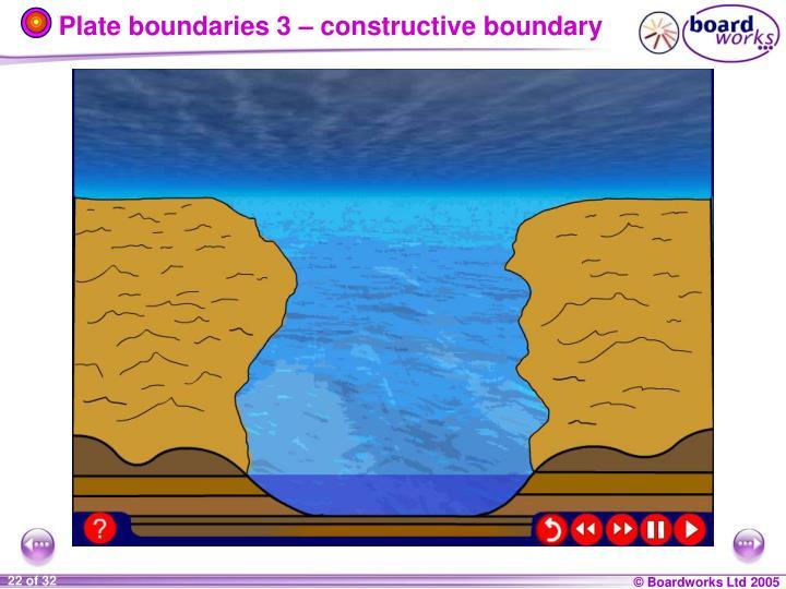 Plate boundaries 3 – constructive boundary